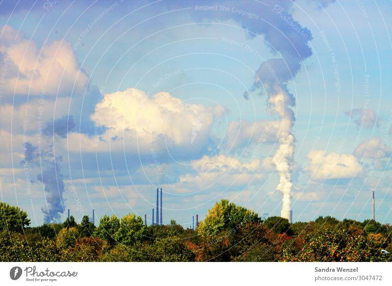 Industrie Klima Klimawandel Wetter Schönes Wetter Duisburg-Nord dreckig gigantisch hässlich Heizkraftwerk Kühlturm Fabrik Klimaschutz CO2-Ausstoß Kohlendioxid