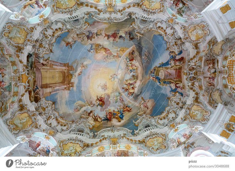 Wieskirche Kunst Künstler Maler Kunstwerk Fresken Steingaden Bayern Deutschland Dorf Kirche Gebäude Architektur Wallfahrtskirche Sehenswürdigkeit Bekanntheit