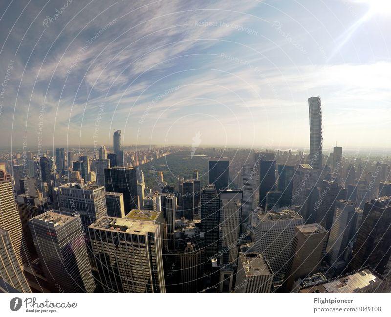 Skyline Manhattan und Central Park, New York Ferien & Urlaub & Reisen Haus Ferne Architektur Lifestyle Gebäude Tourismus Freiheit Horizont Hochhaus USA kaufen