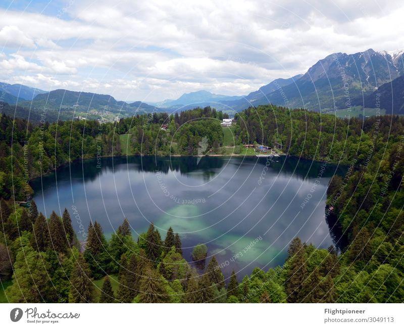 Naturbad Freibergsee in Oberstdorf Ferien & Urlaub & Reisen Berge u. Gebirge wandern Schwimmen & Baden Umwelt Landschaft Pflanze Urelemente Erde Wasser Himmel