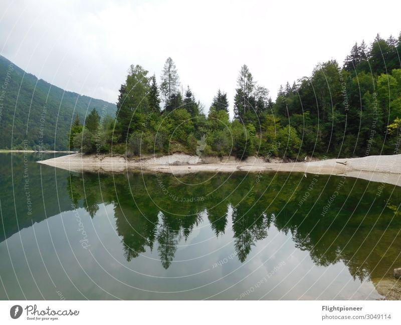 Spiegelung am Wiestalstausee nahe Salzburg, Österreich Ferien & Urlaub & Reisen Ausflug Freiheit wandern Schwimmen & Baden Umwelt Natur Landschaft Pflanze Sand