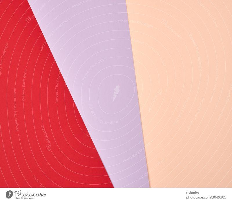 abstrakter Hintergrund aus mehrfarbigen Streifen und Formen Stil Design Dekoration & Verzierung Handwerk Kunst Papier hell trendy modern rot Farbe Kreativität