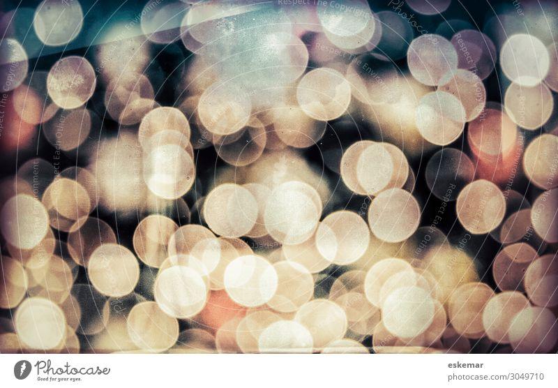 Bokeh Weihnachten & Advent Silvester u. Neujahr Kunst ästhetisch modern rund schön blau braun grau schwarz unscharf Textfreiraum Lichtpunkt Punkt Kreis