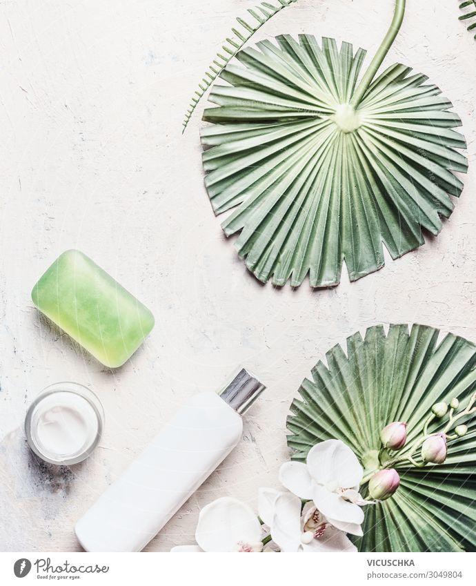 Natürliche Hautpflege. Kosmetik Produkte. kaufen Stil Design schön Körperpflege Gesundheit Wellness Spa Natur Hintergrundbild Vegane Ernährung pflanzlich