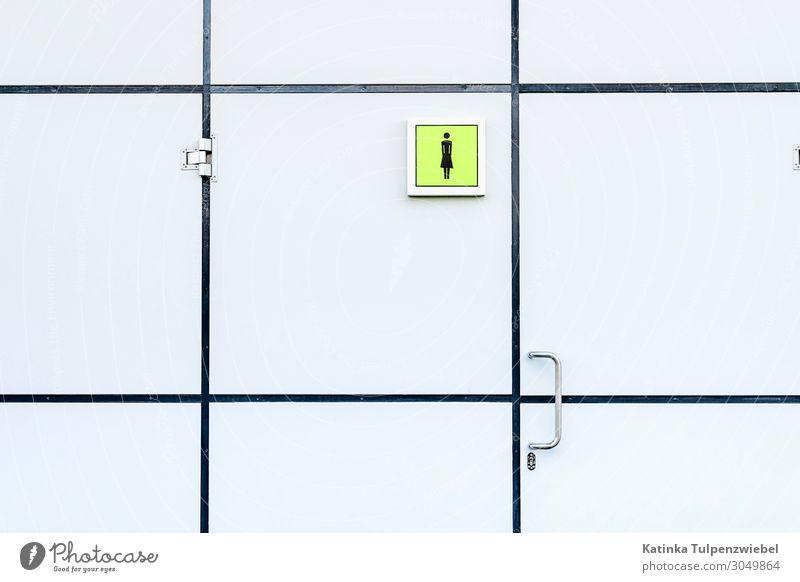 Frau Stadt Wasser weiß Architektur kalt Stil Kunst Design Metall modern Tür Glas geschlossen Zeichen Sauberkeit