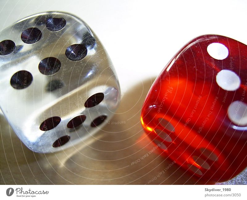 Würfel Paar Spielen Licht Freizeit & Hobby Glas