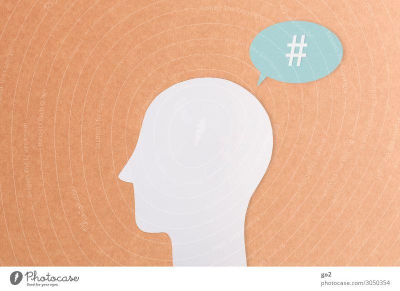 Generation Hashtag Arbeit & Erwerbstätigkeit Beruf Arbeitsplatz Medienbranche sprechen PDA Computer Internet Mensch Kopf 1 Zeichen Schriftzeichen Fortschritt