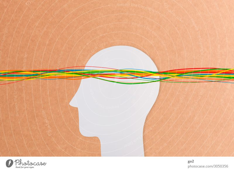 Kreative Gedanken Mensch Kopf 1 Linie ästhetisch außergewöhnlich frei einzigartig mehrfarbig Design Freiheit Idee Identität innovativ Inspiration Kommunizieren