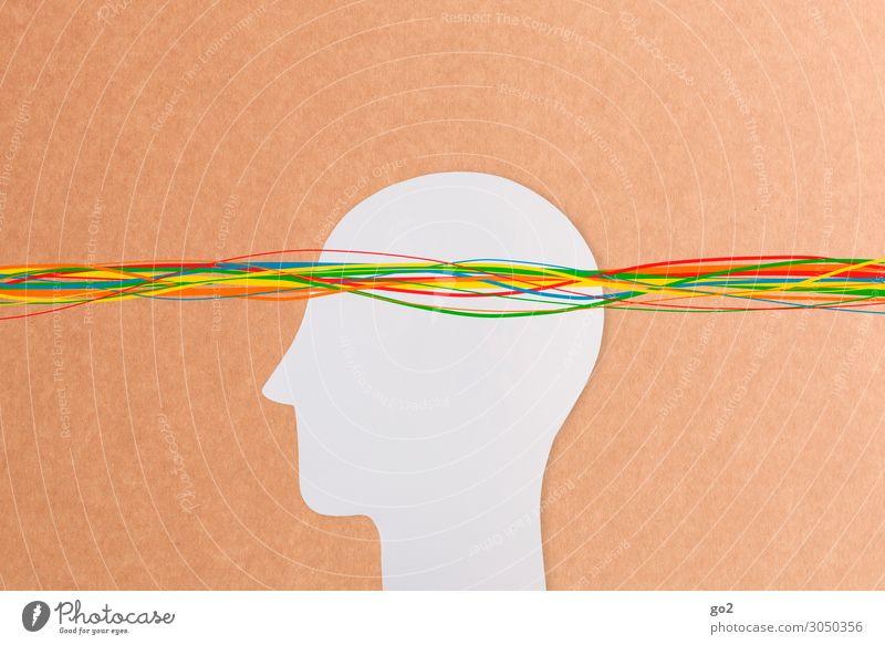 Kreative Gedanken Mensch Leben Kunst außergewöhnlich Freiheit Kopf Denken Design Linie frei Kommunizieren Kultur ästhetisch Kreativität Lebensfreude einzigartig