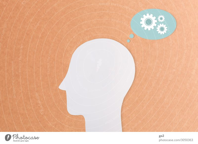 Denken Bildung Wissenschaften Erwachsenenbildung Schule lernen Studium Arbeit & Erwerbstätigkeit Zahnrad Mensch Kopf 1 Sprechblase Zeichen Fortschritt Idee