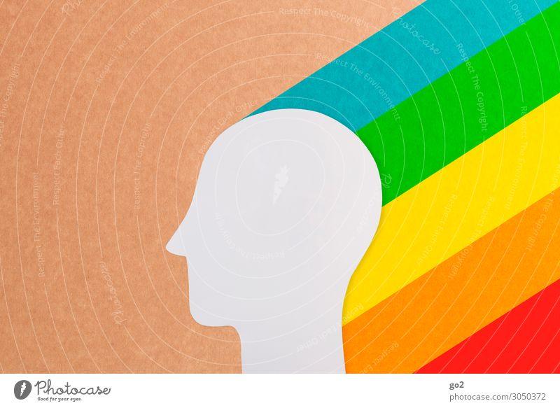 Inspiration Mensch Kopf 1 Zeichen ästhetisch außergewöhnlich Fröhlichkeit frisch positiv Gefühle Freude Glück Lebensfreude Optimismus Menschlichkeit Solidarität