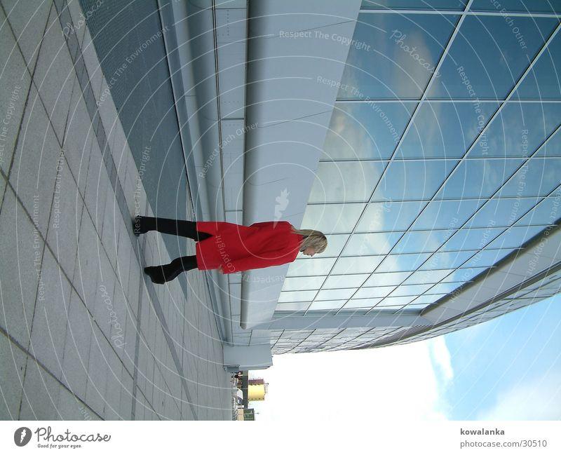 blue Frau Arbeit & Erwerbstätigkeit Glas Spaziergang Mantel