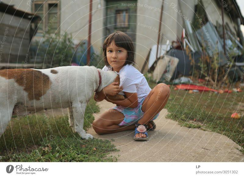 ich liebe meinen Hund Lifestyle Freizeit & Hobby Spielen Häusliches Leben Garten Mensch Kind Kindheit Tier Haustier Gefühle Stimmung Akzeptanz Vertrauen