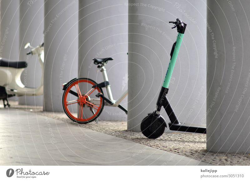last mile mobility Stadt Straße Lifestyle Wege & Pfade Stil Stadtleben Design Freizeit & Hobby Verkehr modern Fahrrad stehen Fahrradfahren kaufen Bürgersteig