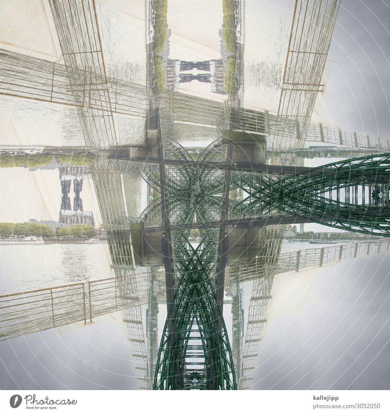 kölle-ellök Stadt Hauptstadt Stadtrand Altstadt Köln Kölner Dom Rhein Kaleidoskop Reflexion & Spiegelung Doppelbelichtung Strukturen & Formen