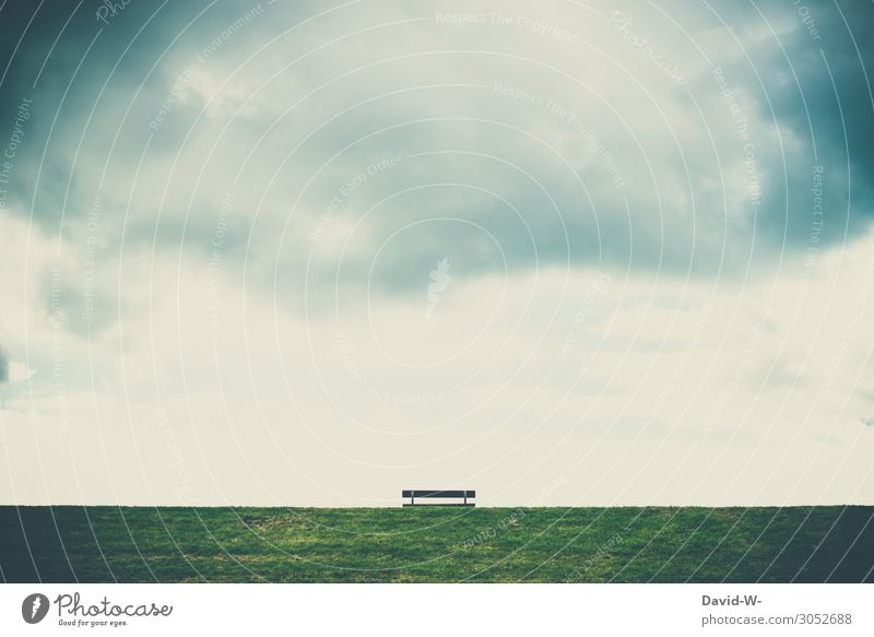 ein ruhiges Plätzchen Mensch Leben Umwelt Natur Landschaft Luft Himmel Wolken Gewitterwolken Herbst Klima Klimawandel schlechtes Wetter Unwetter Wind Sturm
