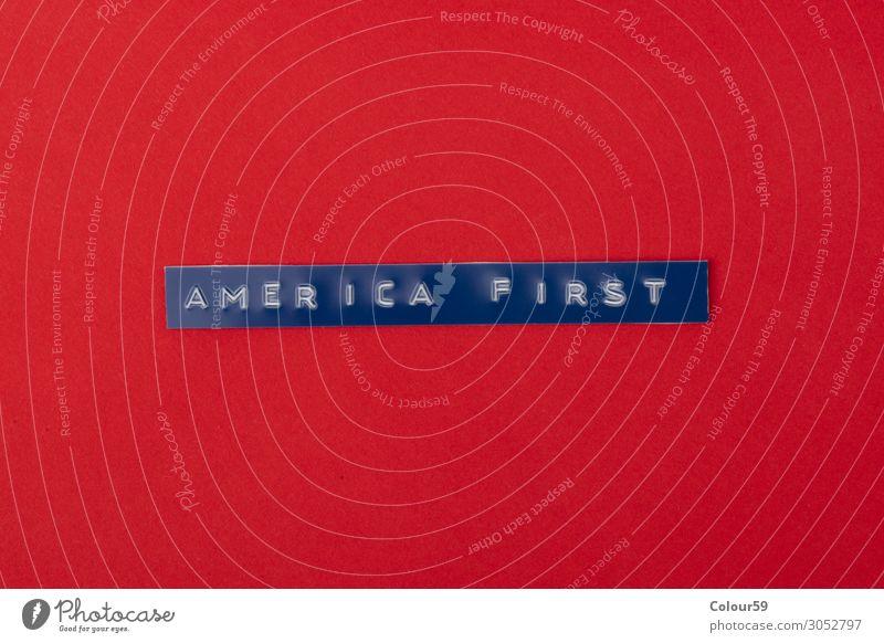 America First Business sprechen außergewöhnlich bedrohlich Erfolg rot Kraft Zukunft Dachfirst america trump donald trade president american