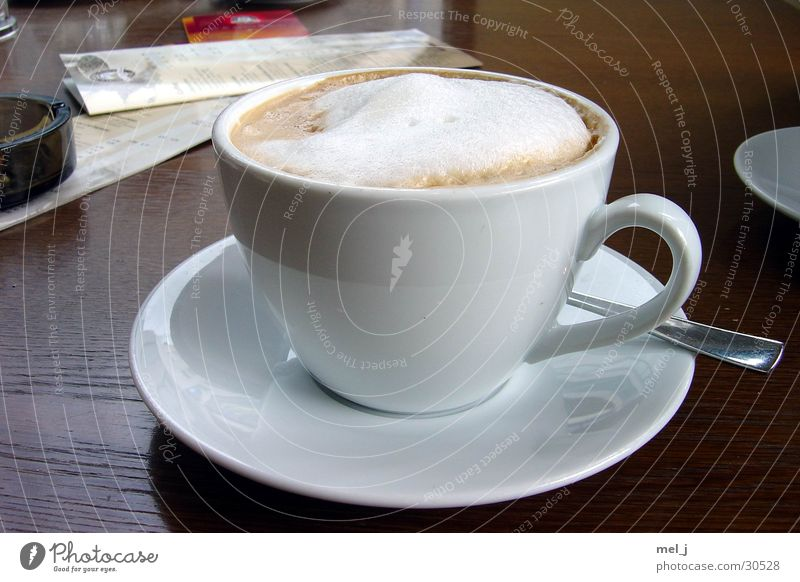 Milchkaffee XXL Kaffee Café Tasse Schaum Milchkaffee