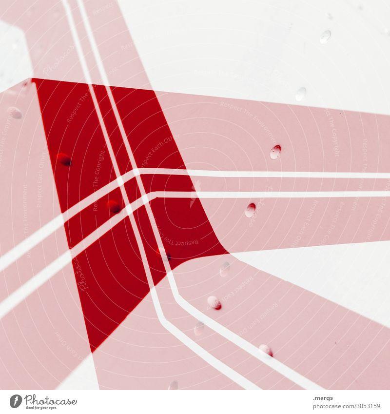+ elegant Stil Design Metall Linie Streifen außergewöhnlich Coolness hell trendy modern rot weiß Farbe Ordnung Perspektive Doppelbelichtung Hintergrundbild