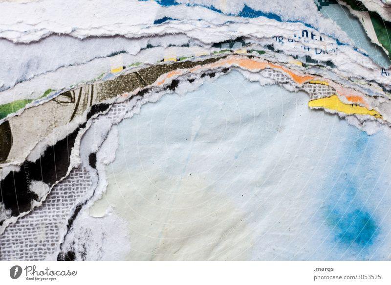 Litfaßsäule Papier Werbung kaputt Stadt mehrfarbig Kommunizieren Wandel & Veränderung Farbfoto Außenaufnahme Nahaufnahme abstrakt Strukturen & Formen