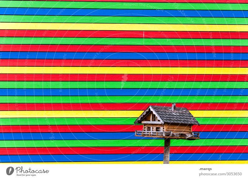 Eigenheim alt Haus Stil klein außergewöhnlich Häusliches Leben Design Linie neu Einfamilienhaus Futterhäuschen Traumhaus
