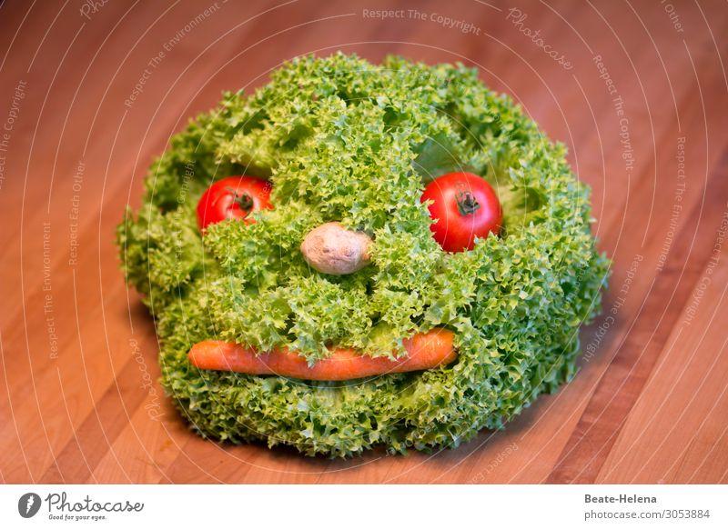 Vegetarisches Leben bringt Spaß Natur Gesunde Ernährung Pflanze grün rot Gesundheit Lebensmittel Gesicht Essen Garten orange frisch ästhetisch genießen Fitness