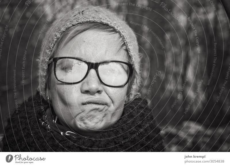 Lieblingsmensch | una.knipsolina Junge Frau Mädchen Winter Brille Brillenträger beschlagene Scheibe Beschlagen angelaufen Dunst Blindheit Kurzsichtigkeit Mütze