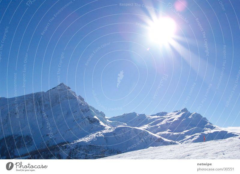 Heinzenberg Sonne Winter Schnee Berge u. Gebirge Kanton Graubünden