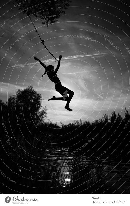Birdy Freizeit & Hobby Ferien & Urlaub & Reisen Abenteuer Freiheit Sommer Schwimmen & Baden feminin Junge Frau Jugendliche Kindheit Leben Körper 1 Mensch