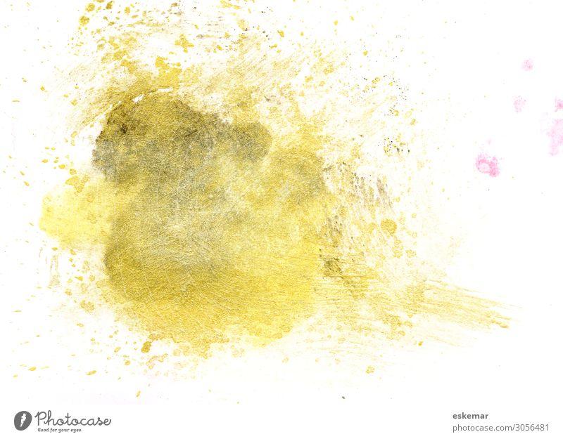 Aquarell Kunst Kunstwerk Gemälde Wasserfarbe Farbfleck Lettering hand lettering Redewendung braun gold weiß Kreativität Hintergrundbild Farbe gemalt