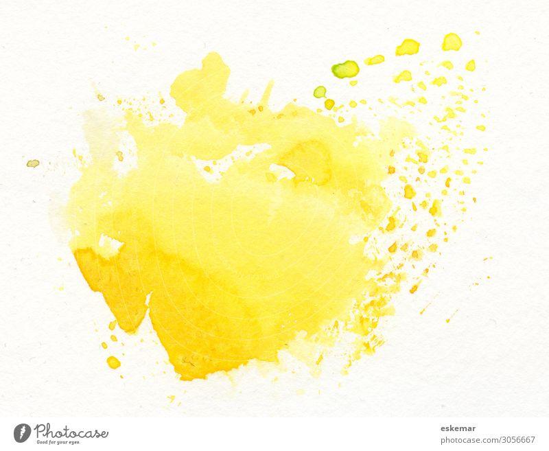 Aquarell abstrakter Hintergrund Sommer Sonne Dekoration & Verzierung Kunst Kunstwerk Gemälde Wasserfarbe Natur Platz Papier ästhetisch Freundlichkeit