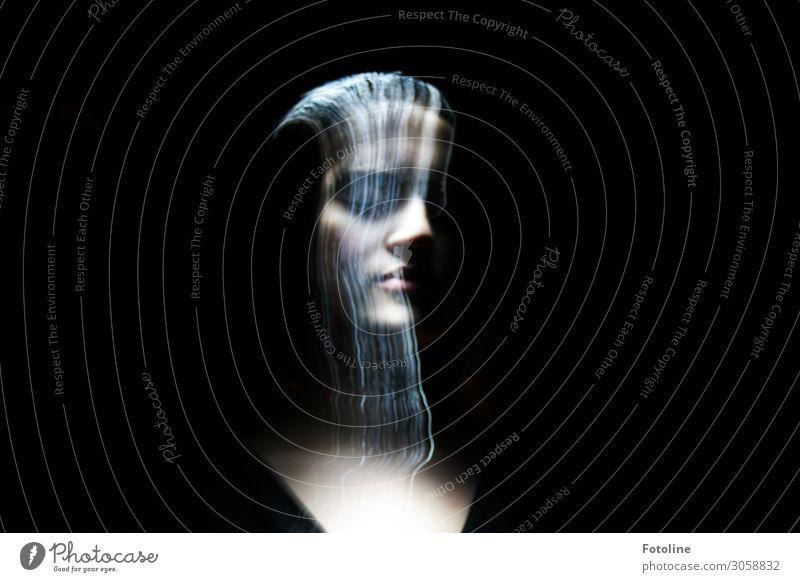 Magisches Licht Mensch feminin Junge Frau Jugendliche Leben Kopf Gesicht Nase Mund Lippen 1 13-18 Jahre außergewöhnlich dunkel schön schwarz Lichtmalerei