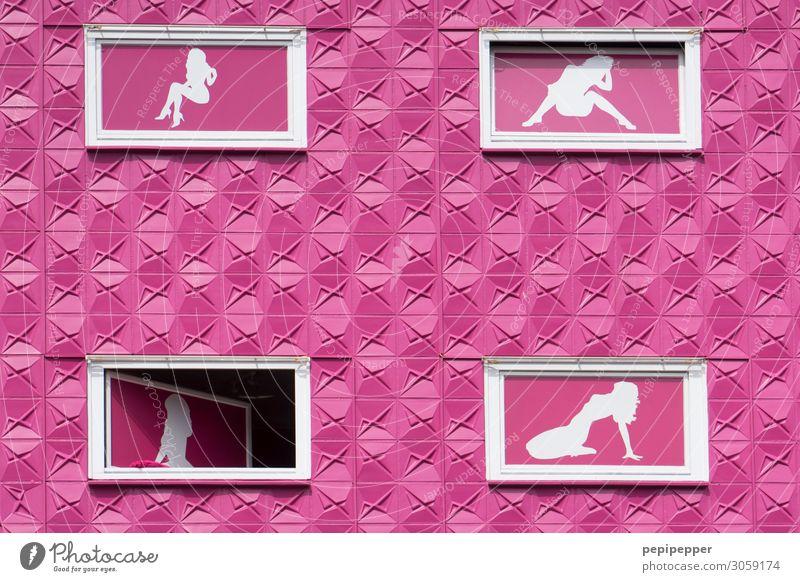 4 Fenster Massage Sauna Haus Nachtleben Erotik Prostituierte Dienstleistungsgewerbe feminin Körper Mensch Hamburg Hafenstadt Bauwerk Gebäude Architektur Mauer