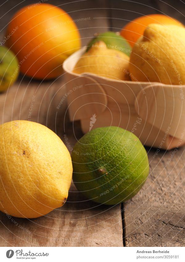 Vitamin C Zitrone, Limette, Orange Frucht Bioprodukte Saft Gesunde Ernährung Sommer gelb leaf lemon lime mix natural nutrition orange organic raw red ripe