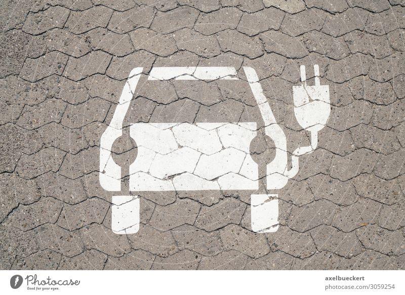 E-Ladestation für Elektroauto Straße Deutschland Textfreiraum PKW Verkehr Technik & Technologie Zukunft Elektrizität Symbole & Metaphern Umweltschutz Fahrzeug
