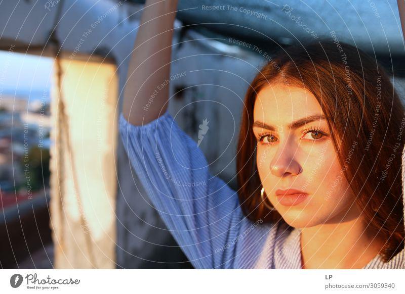 sternenklare Augen Lifestyle elegant schön Wellness harmonisch Wohlgefühl Zufriedenheit Sinnesorgane Erholung ruhig Meditation Mensch Mädchen Junge Frau