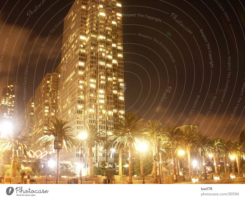 San Francisco by night Architektur Hochhaus Amerika Nachtaufnahme San Francisco