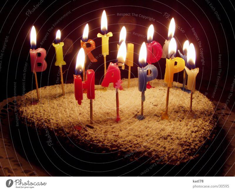 Happy Birthday Kuchen Ernährung Party Feste & Feiern Geburtstag Kerze Freude Glück Fröhlichkeit Begeisterung Sympathie Freundschaft genießen Geburtstagstorte