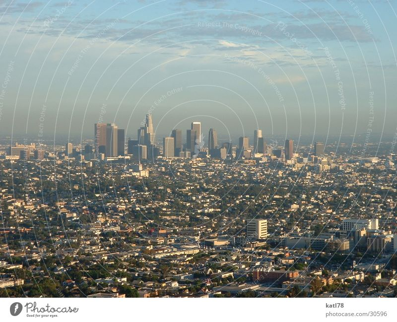 Die Stadt der Engel Kalifornien Smog Nordamerika Los Angeles