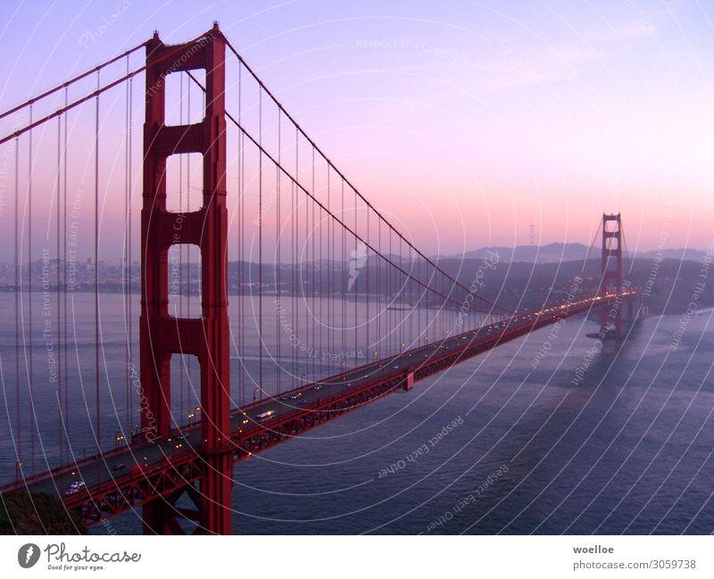 The Majesty of Bridges II Himmel blau Wasser Landschaft Meer Straße Architektur Küste PKW Schönes Wetter USA Brücke Sehenswürdigkeit Hügel Skyline Wahrzeichen