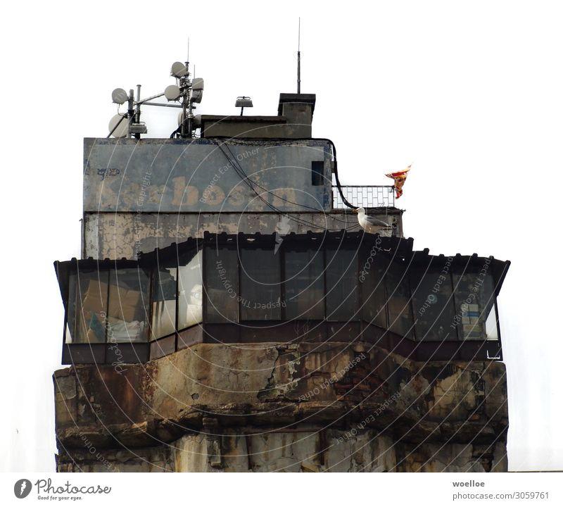 Penthouse für Pakete Istanbul Türkei Stadt Hochhaus Ruine Mauer Wand Fassade Rost alt dreckig hässlich herunterkommen vollgestopft Lager Lagerhaus Farbfoto