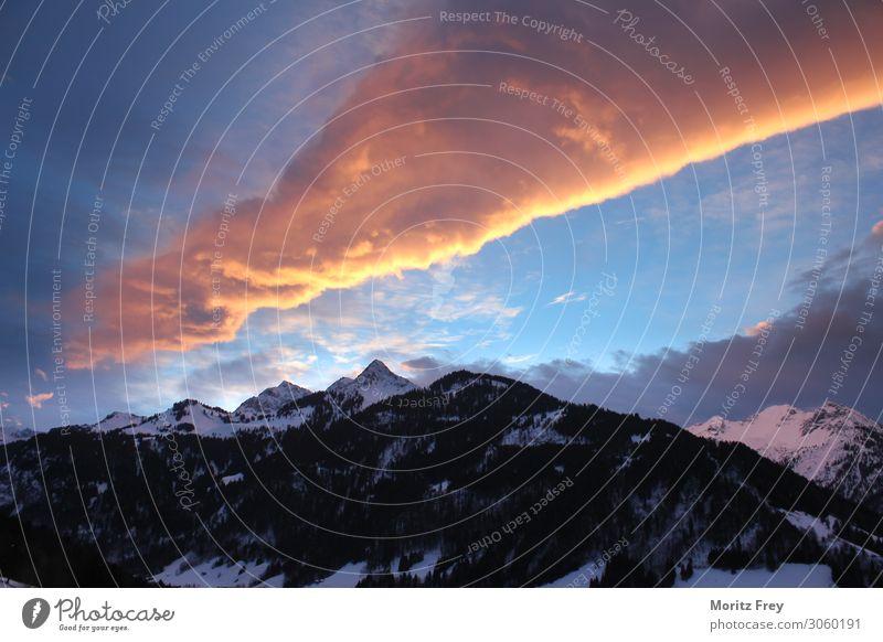 Beautiful sunrise in Vorarlberg, Austria. Ferien & Urlaub & Reisen Natur Winter Lifestyle Freizeit & Hobby Europa Fernweh Top Tourist alpin Zermatt
