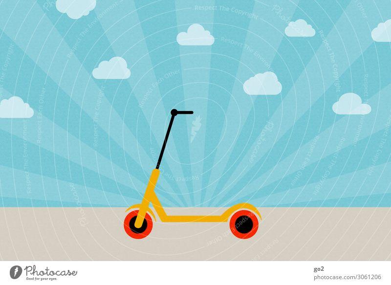 E-Scooter Freude Gesundheit Straße Wege & Pfade Sport Bewegung Freiheit Freizeit & Hobby Verkehr ästhetisch Lebensfreude Schönes Wetter Coolness