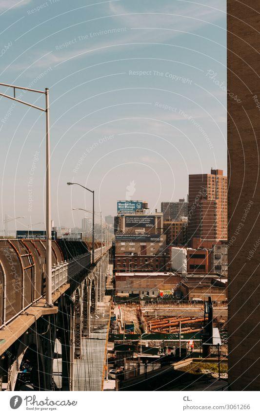 riverside drive Arbeit & Erwerbstätigkeit Baustelle Himmel Schönes Wetter New York City USA Stadt Haus Hochhaus Bauwerk Gebäude Architektur Mauer Wand Verkehr