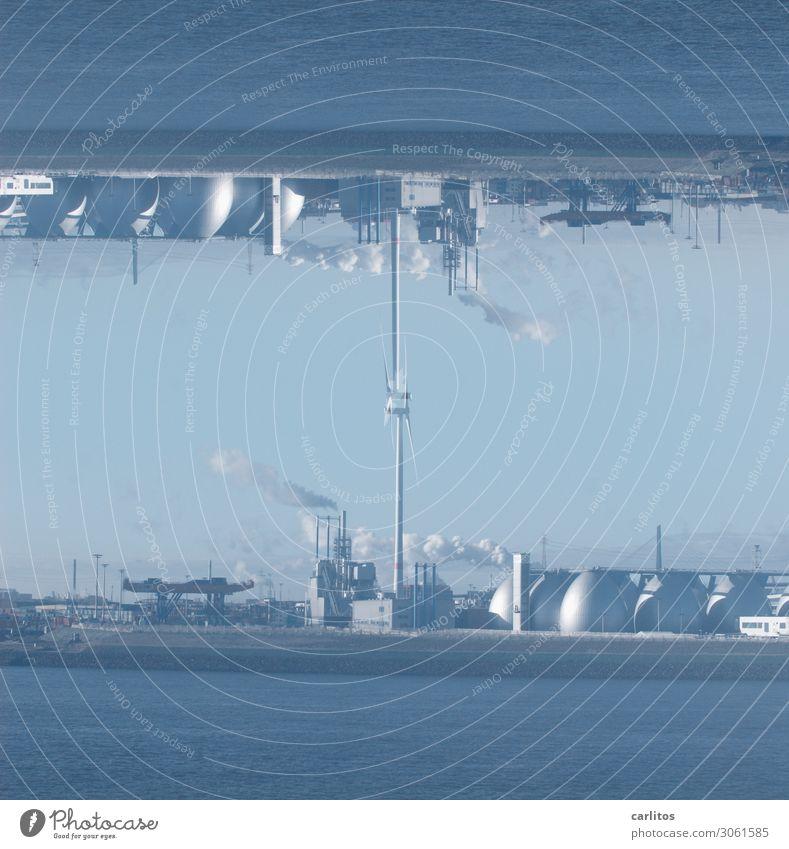 Hamburg steht Kopf II Hafen Tourismus Tanks Schornstein Lager