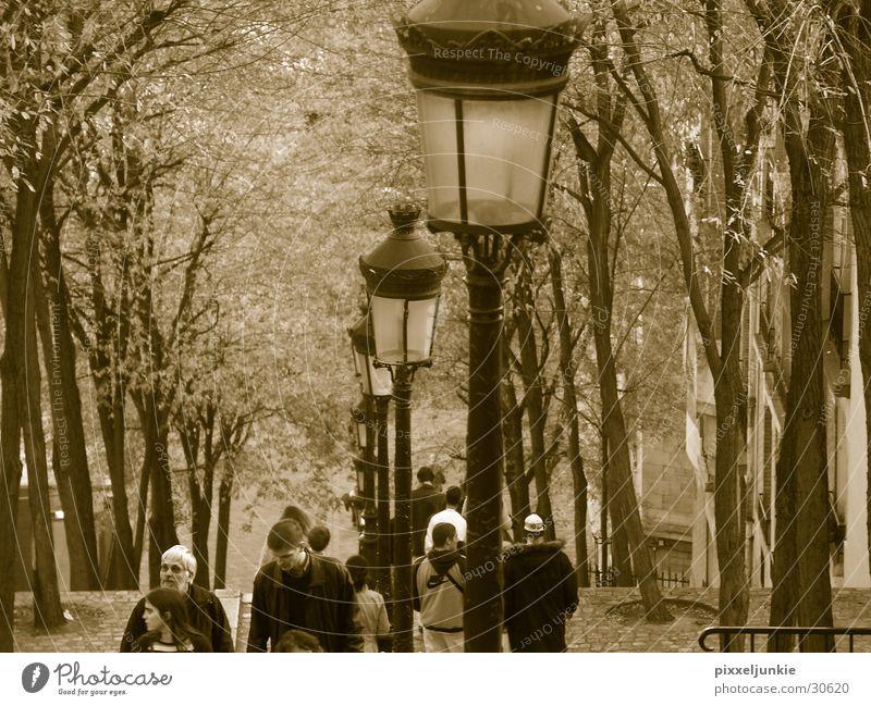 Laternenwelt von Paris Montmartre Sacré-Coeur
