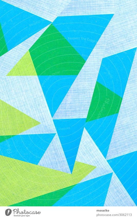 geometrische Formen auf Papierstruktur - blau und grün Stil Design Glück Tapete Hochzeit Handwerk Business Internet Kunst Mode Paket Linie einfach hell modern