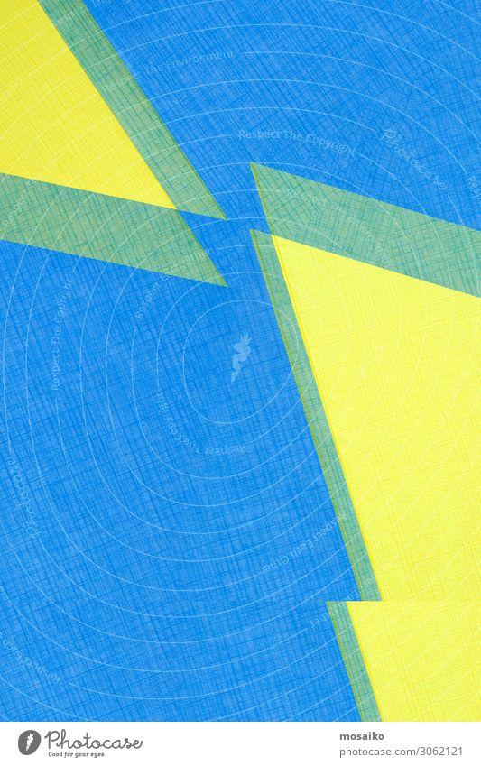 Papierdesign - strukturierter Hintergrund - blau und gelb Lifestyle elegant Stil Design Freude Tapete Entertainment Party Veranstaltung Club Disco Bar