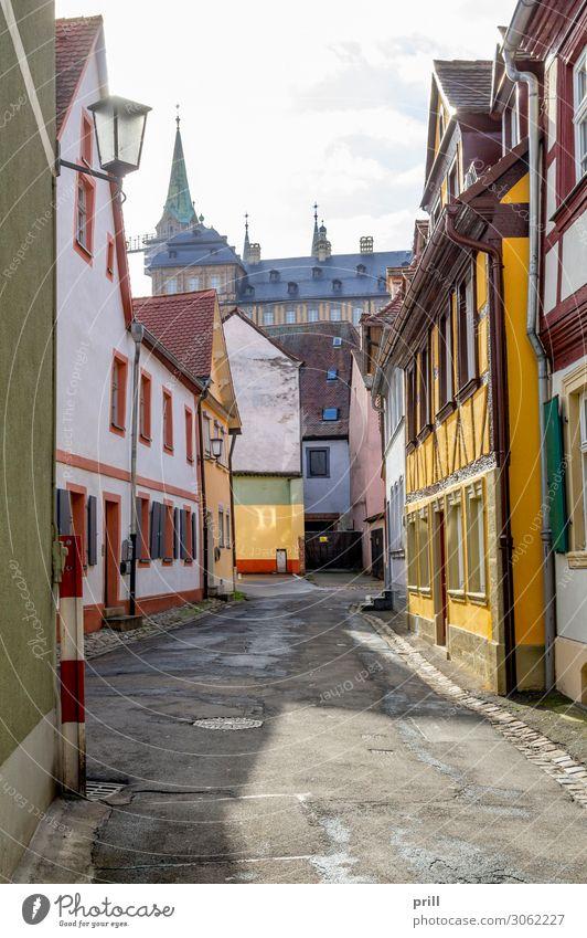 Bamberg in Upper Franconia Haus Kultur Altstadt Fußgängerzone Bauwerk Gebäude Architektur Fassade Straße alt historisch Idylle Nostalgie Tradition Oberfranken