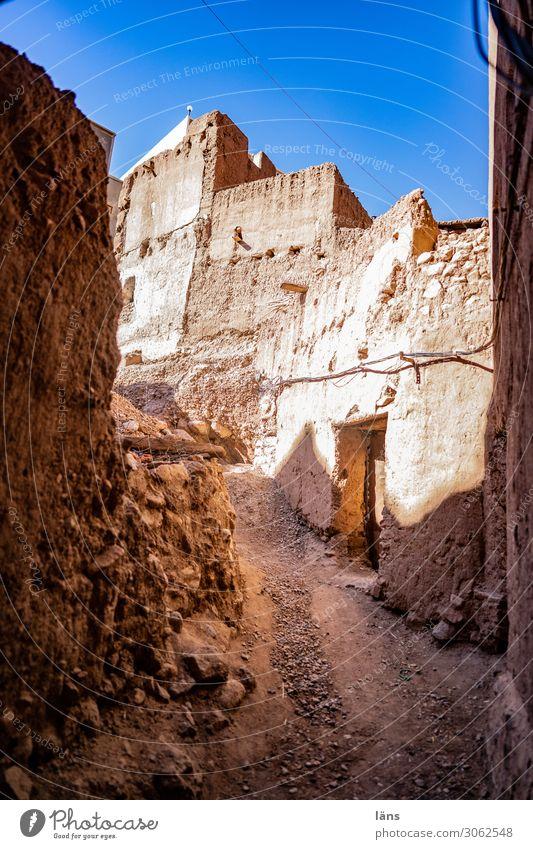 Altstadt Marokko Kleinstadt Haus Ruine Mauer Wand Fassade Wege & Pfade alt authentisch einfach Armut Erfahrung Hoffnung Vergänglichkeit Wandel & Veränderung